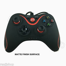 Negro Mate Nuevo Usb Wired Controller Para Microsoft Xbox 360 Pc Windows