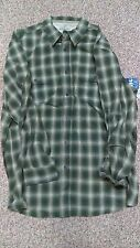 New Men's OUTDOOR LIFE Green Tan Gray Plaid Button Shirt Sz XXLT Big & Tall NWT