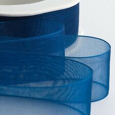 Cut Lengths io Organza Woven Edge Sheer Chiffon Wedding Crafts Ribbon - 1m/2m/3m