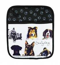 Scallywags Dog Breed Ashdene Australia Cotton Pot Holder Pug Chihuahua Collie