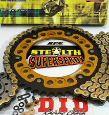 CBR600RR '03-06 GOLD DID X-Ring & SUPERSPROX QUICK ACCEL CHAIN AND SPROCKETS KIT