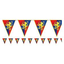 Medieval Bunting Pennant Flag Banner Knight Royal Lion Party Decoration 12ft
