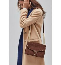 *NEW* Rebecca Minkoff Medium Biker bag Shoulder Suede Brown Chocolate $295 Chain