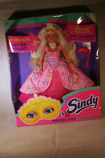Hasbro SINDY Making Eyes doll magic masked princess pink dress 1995