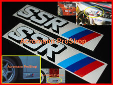 "2x 6"" 15.2cm SSR Decal Sticker racing wheel JDM Speed Star type C F RS GT si sp1"