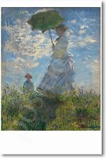 Woman with Parasol 1875 - Claude Monet - NEW French Fine Arts Print POSTER