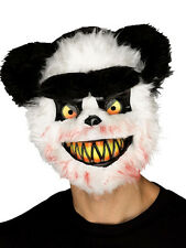 Adulto KILLER Critter Zombie PANDA Male Horror Halloween Fancy Dress Maschera