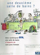 Publicité advertising 2001 Le Sanibroyeur SFA par Bretécher