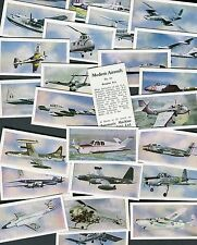 "AUTOMATIC MACHINE 1958 SET OF 25 ""MODERN AIRCRAFT"" TRADE CARDS"
