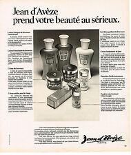 PUBLICITE ADVERTISING 044   1975    JEAN D'AVEZE    cosmétiques