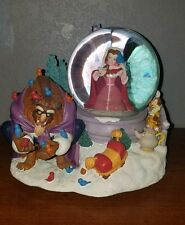 disney beauty and the beast snowglobe rare