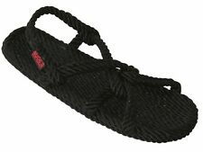 Nude's Rope Sandals - Barbados Style Black Womens 9 Jesus Handmade Polypropolene