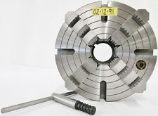 """BISON 12"""" 4 Jaw L0 Mount Manual Lathe Independent Chuck 7-854-1242 POLAND"""