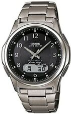 CASIO WAVE CEPTOR WVA-M630TDE-1AJF Titanium Solar Radio Black Men's Watch Japan