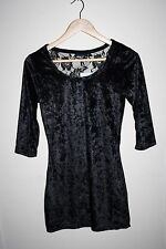 Okay Fashion Designer Style Women's 3/4 Sleeve Black Polyester Blend Top Size 36