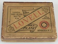 VINTAGE DRY PLATE NEGATIVES   IN BOX. LOVELL COMPANY NEW ROCHELLE, N.Y.