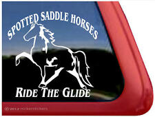 Spotted Saddle Horses RIDE THE GLIDE ~ Equestrian Vinyl Window Decal Sticker