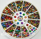 #ES11 Diamond Facet Rivets Nail Art Decoration 2mm 3mm Colorful Metal Studs