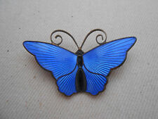 Vintage Sterling Silver Blue Enamel David Anderson Butterfly  Brooch  229.008