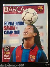 REVISTA OFICIAL F.C.BARCELONA BARÇA Nº5 - RONALDINHO SAMBA AL CAMP NOU