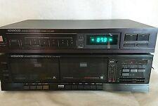 Vintage Kenwood AM FM Digital Tuner with Duel Cassette Deck Tested Working