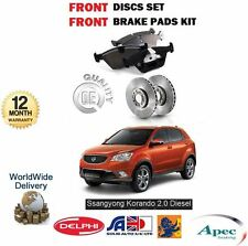 FOR SSANGYONG KORANDO 2.0 EXDI 2010-  NEW FRONT BRAKE DISC SET & DISC PADS KIT