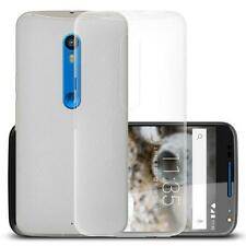 For Motorola Moto X Play Suave Transparente Carcasa De Gel TPU Anti-Finger Funda