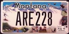 "MONTANA "" ENJOY - BEAR - JEEP - ELK - MOUNTAINS Graphic License Plate FREE US SH"