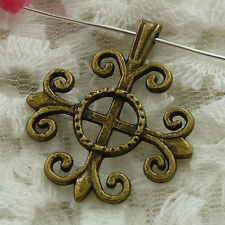 Free Ship 40 pieces bronze plated cross pendant 32x27mm #1118