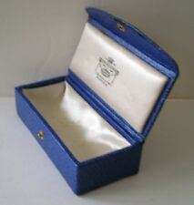 VINTAGE GILDED LEATHER BOX/CASE FOR ITEM OF JEWELLERY O.W.FAULKNER PINNER C1930
