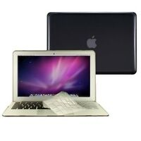 """2 in 1 Crystal BLACK Case for Macbook AIR 13"""" A1369 with TPU Keyboard Cover"""