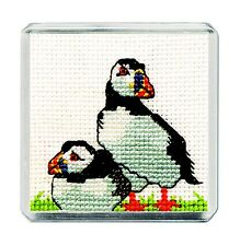 Fridge Magnet Sea Life Scottish Cross Stitch Kit; 'Puffin' by Textile Heritage