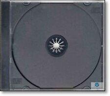 25 Single CD Maxi Jewel Case 10.4mm Spine Standard High Quality Black Tray New