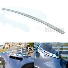 Chrome Slotted Windshield Windscreen Trim For 96-13 HARLEY TOURING/BAGGER MODELS