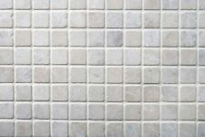 BOTTOCINO CREAM TUMBLED MARBLE MOSAIC MOSAICS 48x48mm - £65.99 PER SQM