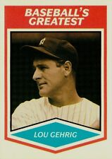 LOU GEHRIG 1989 CMC Baseball's Greatest  HTF OddBaLL Card NY Yankees LEGEND!