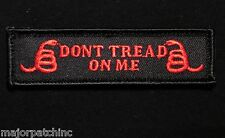 DON'T TREAD ON ME USA ARMY TAB BADGE BLACK OPS RED VELCRO® BRAND MORALE PATCH