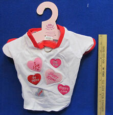 Valentines Day Dog Pamper Me Shirt White Pink Red Candy Heart Sayings Small SM