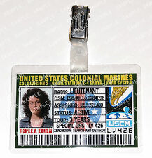 Aliens ID Badge US Colonial Marines Ripley, Ellen Cosplay Costume Prop Halloween