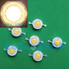 60pcs 1W Warm White 3000K High Power LED Spot Light 100Lm-110Lm Lamp Beads DIY