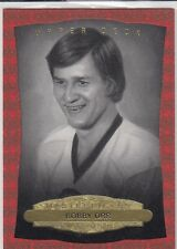 BOBBY ORR 14/15 UD MASTERPIECES B&W PORTRAITS RED FRAMED CLOTH 66/100 * BRUINS