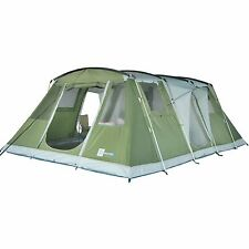 SKANDIKA NIZZA TENT 6 MAN PERSON BIRTH LARGE FAMILY CAMPING TENT GREEN 6.5FT AI