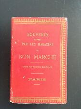 rare ancien carnet souvenir magasins Bon marché avec carte et metre ruban tissus