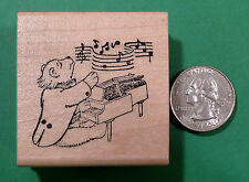 Piano Bear, Wood Mounted Rubber Stamps