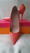Kate Spade New York 7.5 Licorice Too Pump Coral Salmon Red Patent Leather Heel
