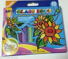Amos 10 Colors Peelable Glass Deco Home Art Gallery Kit - Made in Korea