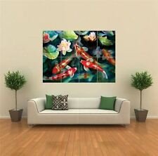 WATER FISH POND KOI CARP  NEW GIANT POSTER WALL ART PRINT PICTURE G1530