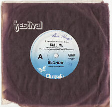 BLONDIE - CALL ME  Very rare 1980 Aussie Single Release! EX-