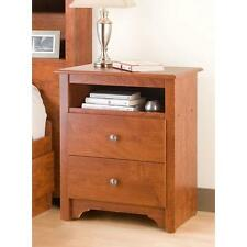 Night Stand Chelsea Cherry 2 drawer Open Cubbie Nightstand Bedroom Furniture End