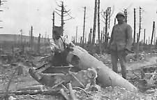 55 IPPECOURT WAR KRIEG GUERRE 14/18 TOUTE PETITE PHOTO CANON DETRUIT ? 1916